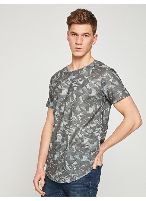 Koton Baskılı Tişört Gri